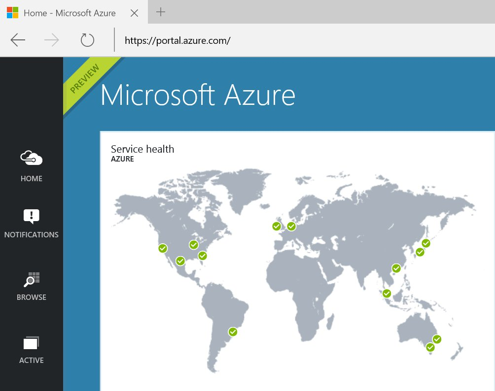 Azure Portal Home Page