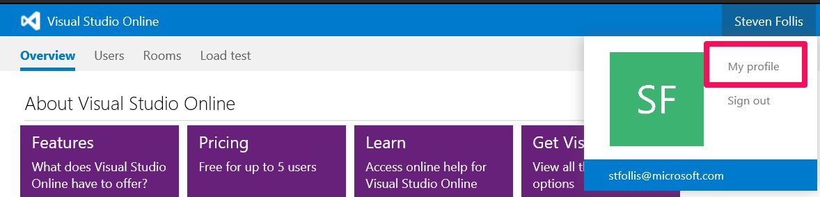 Using Git from the command line with Visual Studio Online