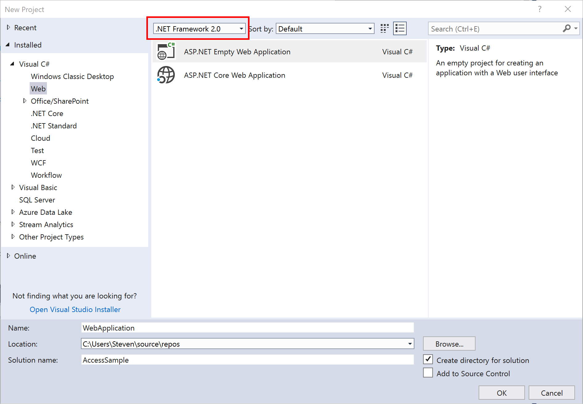 Moving an Access Database into a Windows Container with